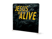 Easter Rock Jesus is Alive Tension Backdrop Display