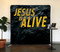 Easter Rock Jesus is Alive Tension Backdrop Display