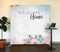 Spring Floral Welcome Home Tension Backdrop Display