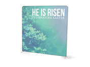 He is Risen Green Tension Backdrop