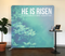 He is Risen Green Tension Backdrop Display