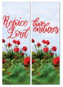 set of 2 Easter indoor banners