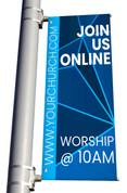 Join Us Online light pole banner