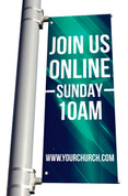 Join Us online style 20 light pole banner