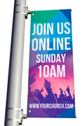 Join us Online parking lot banner