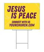 Praying for our city yard sign