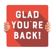 COVID ReOpen Handheld - Style 5 - Glad You're Back Red