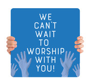 COVID ReOpen Handheld - Style 4 - Worship With You Blue