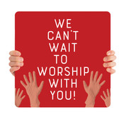 COVID ReOpen Handheld - Style 4 - Worship With You Red