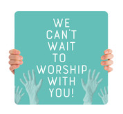 COVID ReOpen Handheld - Style 4 - Worship With You Teal