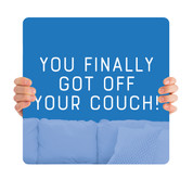 COVID ReOpen Handheld - Style 4 - Off Your Couch Blue
