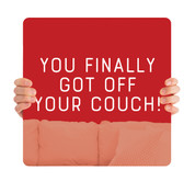 COVID ReOpen Handheld - Style 4 - Off Your Couch Red