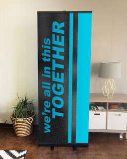 We're all in this together Set 6 D2 retractable banner