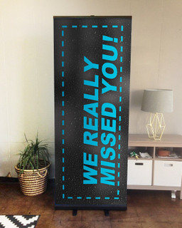 We Really Missed You Set 6 D2 retractable banner