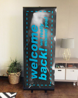 Welcome Back Set 6 D2 retractable banner