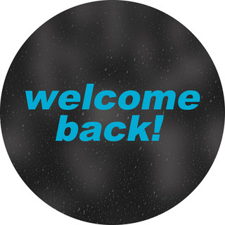 Welcome Back! Circle Floor Decal - Adhesive Vinyl Sticker