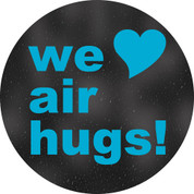 We Love Air Hugs Circle Floor Decal - Adhesive Vinyl Sticker