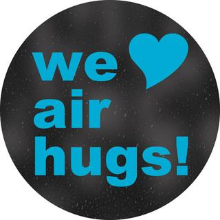 We Love Air Hugs Circle Floor Decal - Adhesive Vinyl Sticker