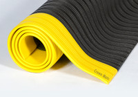 Black with Yellow Border - Ribbed