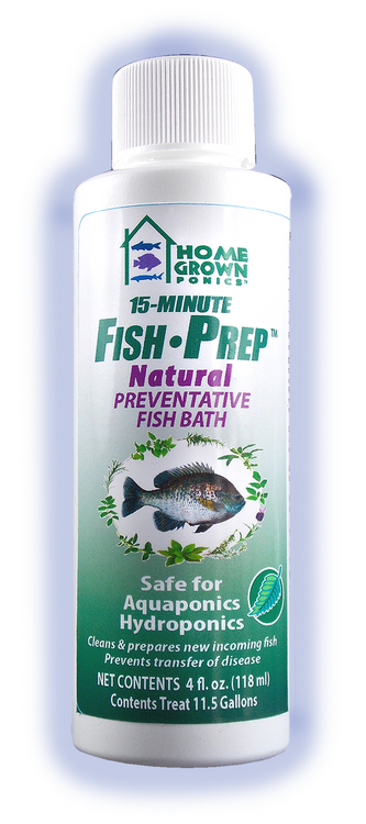Fish Prep: Prepares and treats new fish prior to adding into aquariums