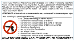 No Guns Allowed - YOU LOST BUSINESS Card