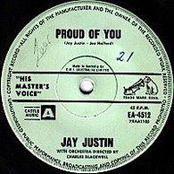JUSTIN,JAY  -   Proud of you/ Love me, love me, baby darling (G83267/7s)