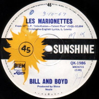 BILL & BOYD  -   Les Marionettes/ She chased me (G5787/7s)