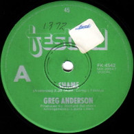 ANDERSON,GREG  -   Shame/ It's wrong (G5724/7s)