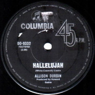 DURBIN,ALLISON  -   Hallelujah/ Tonight I'll say a prayer (G66248/7s)