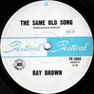 BROWN,RAY  -   The same old song/ New kind of love (G8077/7s)