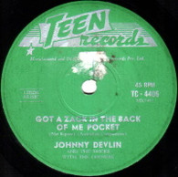 DEVLIN,JOHNNY & DEVILS WITH DEENERS  -   Got a zack in the back of my pocket/ Such a night (82140/7s)