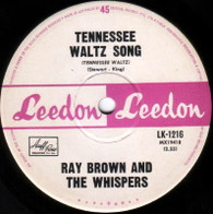 BROWN,RAY & WHISPERS  -   Tennessee waltz song/ I am what I am (G8370/7s)