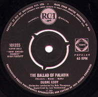 EDDY,DUANE  -   The ballad of Palladin/ The wild westerners (G43107/7s)