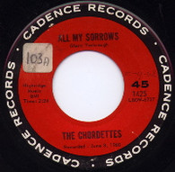 CHORDETTES  -   All my sorrows/ In the deep blue sea (G4490/7s)