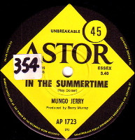 MUNGO JERRY  -   In the summertime/ MIghty man (59316/7s)