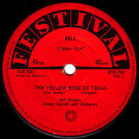 BELL RINGERS + JIMMY CARROLL & ORCHESTRA  -   The yellow rose of Texas/ You are my sunshine (6840/7s)