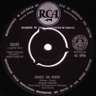FISHER,EDDIE  -   Cindy, oh Cindy/ I wanna go where you go, do what you do/  (68195/7s)