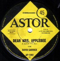 GARRICK,DAVID  -   Dear Mrs. Applebee/ You're what I'm living for (71158/7s)