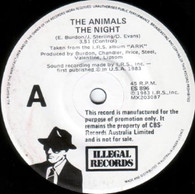 ANIMALS  -   The night/ No John no (G7319/7s)