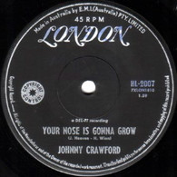 CRAWFORD,JOHNNY  -   Your nose is gonna grow/ Mr. Blue (G73149/7s)