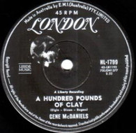 MCDANIELS,GENE  -   A hundred pounds of clay/ Take a chance on love (G75284/7s)