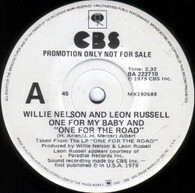 NELSON,WILLIE & LEON RUSSELL  -   One for my baby and one for the road/ Heartbreak hotel (G78313/7s)