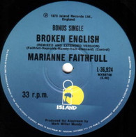 FAITHFULL,MARIANNE  -   Broken English (remixed and extended version)/ Broken English (remixed and extended version) (G79161/7s)