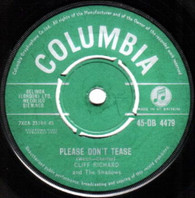 RICHARD,CLIFF & SHADOWS  -   Please don't tease/ Here is my heart (G79461/7s)
