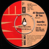 GEORDIE  -   All because of you/ Ain't it just like a woman (G81224/7s)