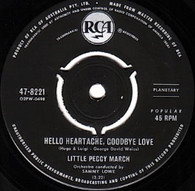 MARCH,LITTLE PEGGY  -   Hello heartache, goodbye love/ Boy crazy (82285/7s)