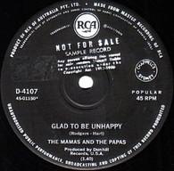 MAMAS & PAPAS  -   Glad to be unhappy/ Hey, girl (82282/7s)
