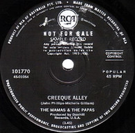 MAMAS & PAPAS  -   Creeque Alley/ Did you ever want to cry (82281/7s)