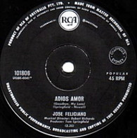 FELICIANO,JOSE  -   Adios amor/ At day's end (G83167/7s)