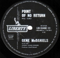MCDANIELS,GENE  -   Point of no return/ Warmer than a whisper (85178/7s)